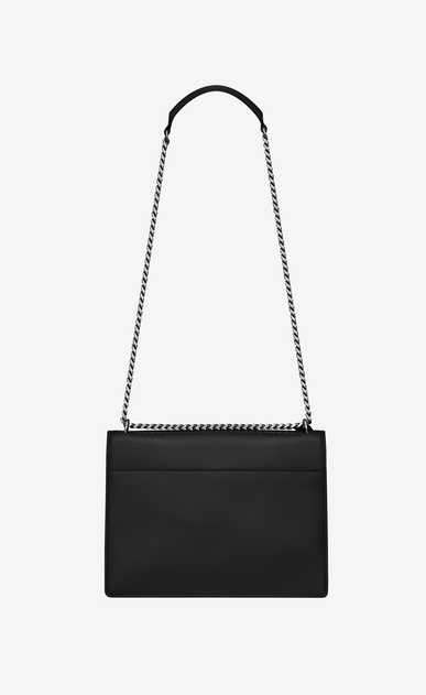 SAINT LAURENT Sunset D Large SUNSET bag in black leather b_V4
