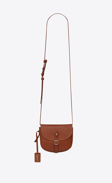 SAINT LAURENT Mini bags Besace Woman Toy BESACE bag in caramel vegetal leather a_V4