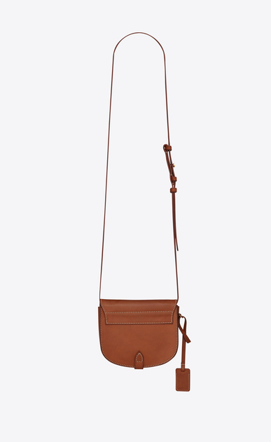 SAINT LAURENT Toy Besace D Toy BESACE bag in caramel vegetal leather b_V4