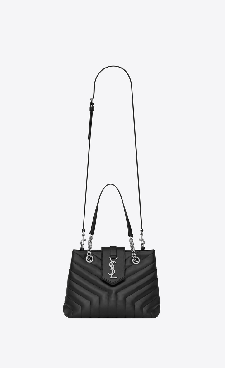 "Saint Laurent Small LOULOU Shopping Bag In Black ""Y"" Quilted ... 20360af0c1fe8"