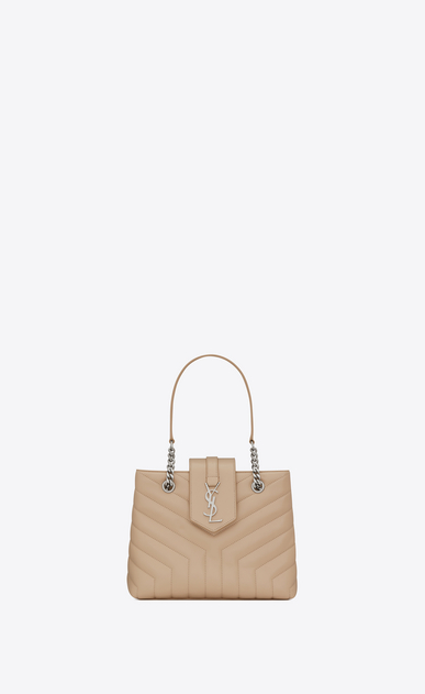 "loulou small shopping bag in matelassé ""y"" leather"