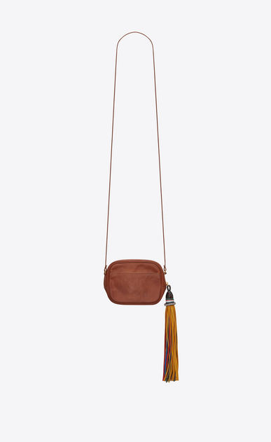 SAINT LAURENT Mini bags Camera Woman BLOGGER bag in cognac leather b_V4