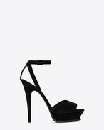 SAINT LAURENT Tribute D TRIBUTE 105 open-toed sandals in black suede f