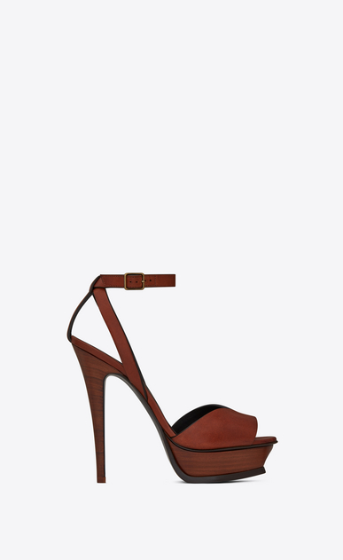 SAINT LAURENT Tribute D TRIBUTE 105 open-toed sandals in caramel leather a_V4