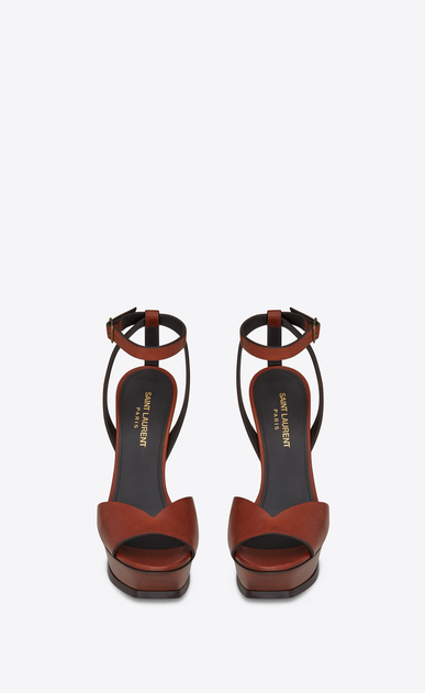 SAINT LAURENT Tribute D TRIBUTE 105 open-toed sandals in caramel leather b_V4
