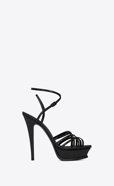 SAINT LAURENT Tribute D TRIBUTE 105 multi-strap sandals in black patent leather a_V4