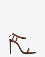 SAINT LAURENT Majorelle D MAJORELLE 105 sandals in whiskey painted leather f