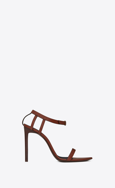 SAINT LAURENT Majorelle D MAJORELLE 105 sandals in whiskey painted leather a_V4