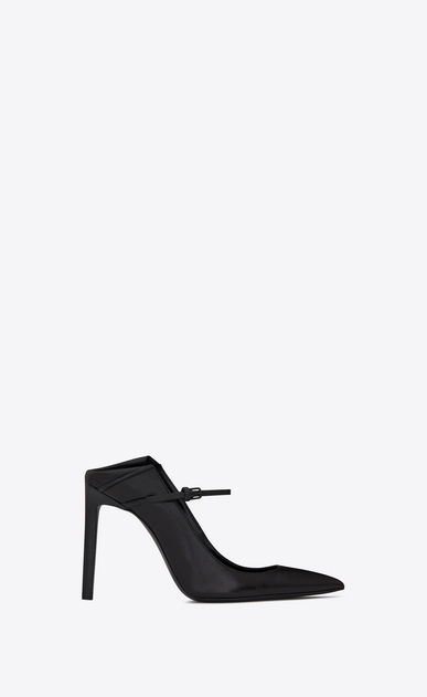 SAINT LAURENT Majorelle D MAJORELLE 105 convertible pumps in black leather a_V4