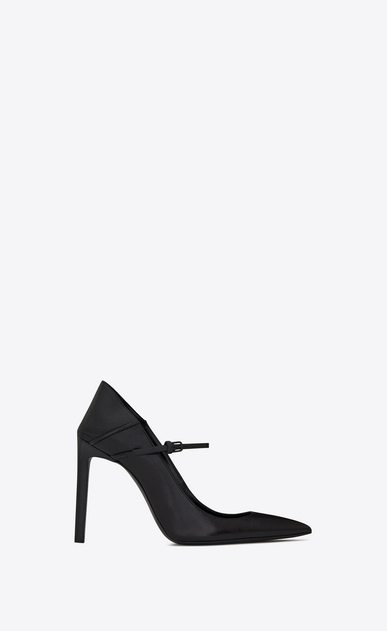 SAINT LAURENT Majorelle D MAJORELLE 105 convertible pumps in black leather b_V4