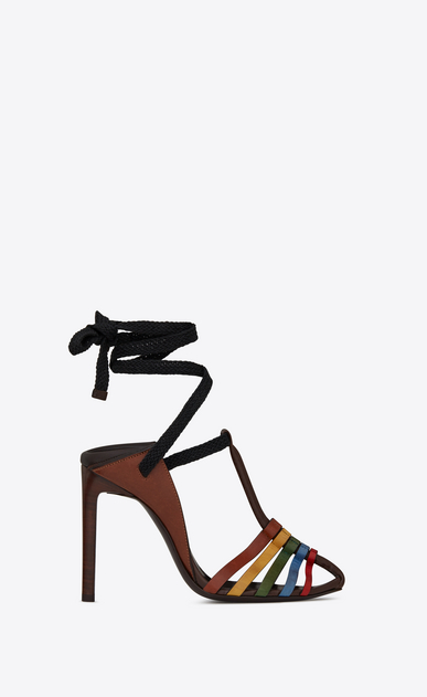 SAINT LAURENT Majorelle Woman MAJORELLE 105 convertible sandal in multicolored leather a_V4