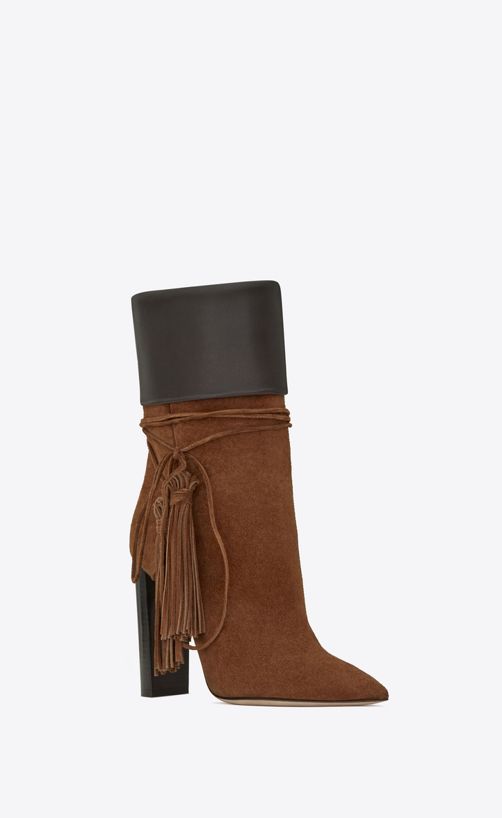 Tanger 105 boots - Brown Saint Laurent Free Shipping Low Shipping Free Shipping Sale Online 3MH1g4q