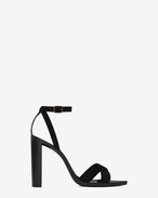 SAINT LAURENT Tanger Shoes D TANGER 105 sandal with crisscrossed ties in black suede f