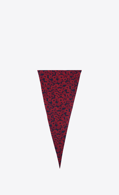 Diamond-shaped POPPY scarf in red and black crepe de chine