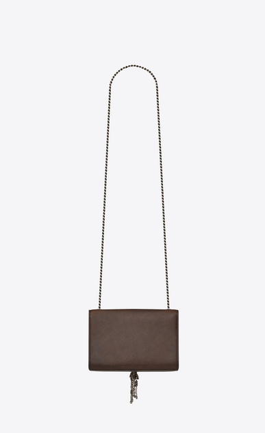 SAINT LAURENT MONOGRAM KATE WITH TASSEL D Small KATE chain bag with tassel in chocolate leather b_V4