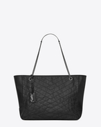 SAINT LAURENT Niki bags D Large NIKI shopping bag in black vintage leather f
