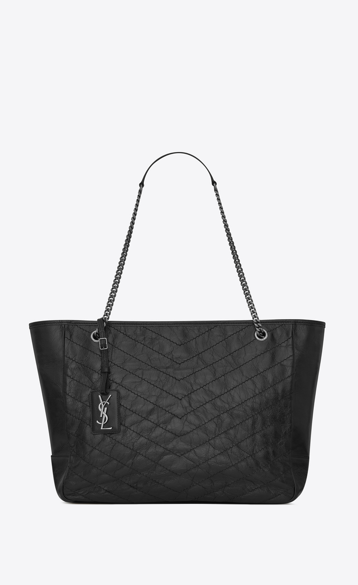 Shopping Saint Froissé Grand Cuir Matelassé En Niki Sac Laurent PwAHwqF