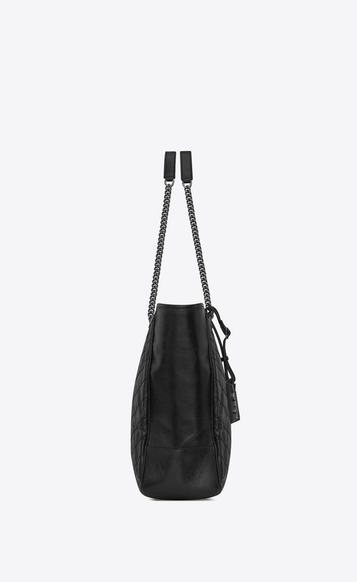 Saint Laurent Large Niki Shopping Bag In Crinkled And