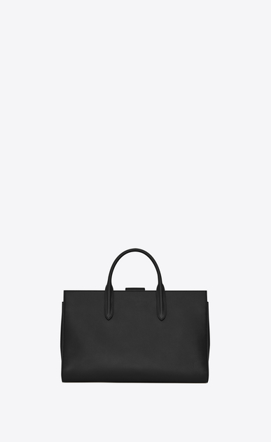 SAINT LAURENT Debbie D Large jane tote bag in black leather b_V4