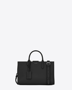 SAINT LAURENT Debbie D Medium JANE tote bag in black leather f