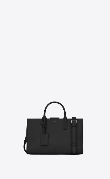 SAINT LAURENT Debbie D Sac cabas Medium JANE en cuir noir a_V4