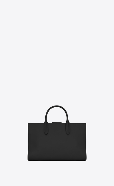 SAINT LAURENT Debbie D Medium JANE tote bag in black leather b_V4