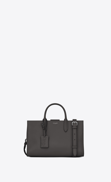 SAINT LAURENT Debbie D Medium JANE tote bag in asphalt gray leather a_V4