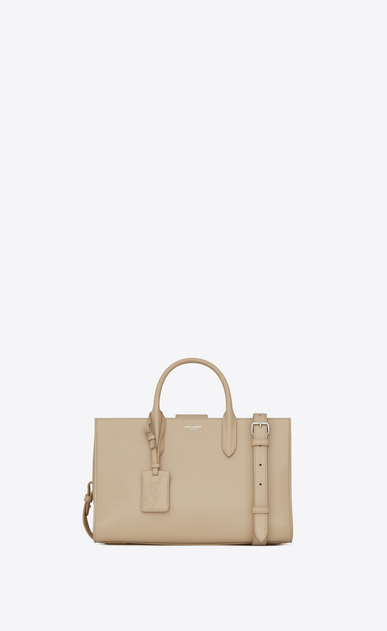 SAINT LAURENT Debbie D Medium JANE tote bag in powder leather a_V4