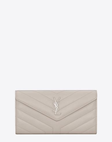Loulou Flap Wallet in Neutrals
