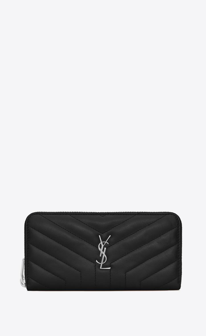 Black LouLou continental wallet Saint Laurent 81DF7G