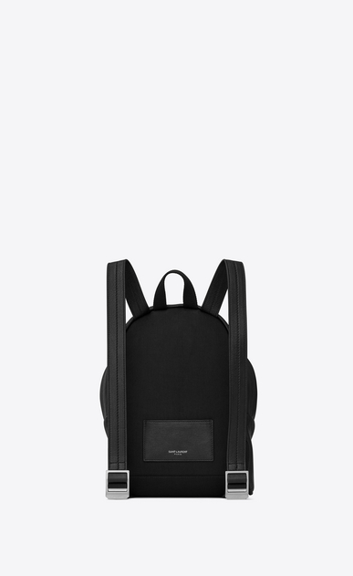 SAINT LAURENT City Backpack D Mini TOY CITY embroidered backpack in black leather b_V4