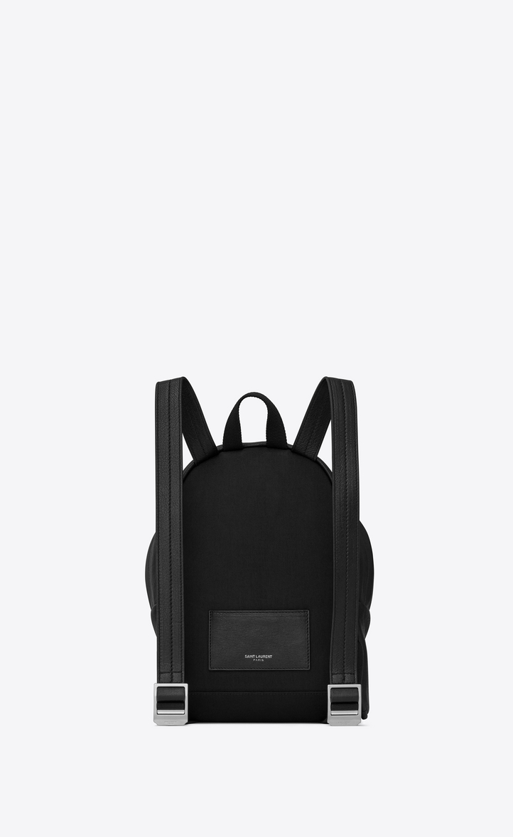 Saint Laurent Mini TOY CITY Embroidered Backpack In Black Leather ... 62db3a1217