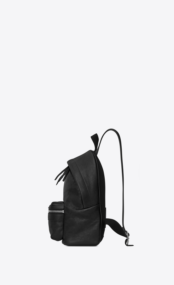 Zoom  Mini TOY CITY embroidered backpack in black leather, Alternative View b528b84567