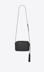 7d8ec076c4f5 Saint Laurent LOU Camera Bag In Matte Black Crocodile Embossed ...