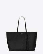 SAINT LAURENT Shopping Saint Laurent E/W D SHOPPING bag in black perforated vintage leather f