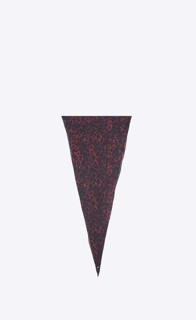 SAINT LAURENT Diamond shaped scarves Woman Large diamond-shaped leopard scarf in red and black etamine a_V4