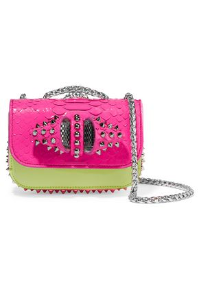 CHRISTIAN LOUBOUTIN Sweet Charity mini python and leather shoulder bag