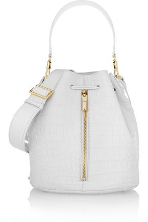ELIZABETH AND JAMES Cynnie croc-effect leather bucket bag