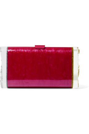 EDIE PARKER Lara glittered acrylic box clutch
