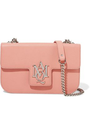 ALEXANDER MCQUEEN Insignia textured-leather shoulder bag
