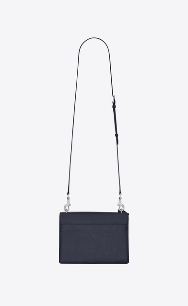 SAINT LAURENT Sunset D sunset monogram tasche in der größe medium aus marineblauem narbenleder b_V4