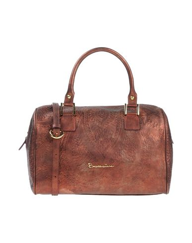 BRACCIALINI レディース ハンドバッグ 赤茶色 革