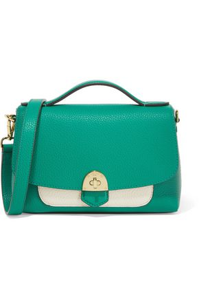 MALLET & CO Basil two-tone textured-leather shoulder bag