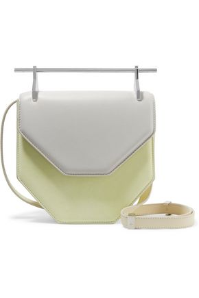 M2MALLETIER Amor Fati two-tone leather shoulder bag
