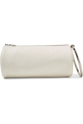 KARA Duffel textured-leather clutch
