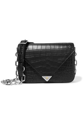 ALEXANDER WANG Croc-effect leather shoulder bag