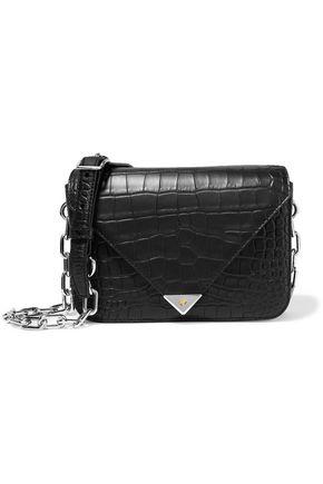 ALEXANDER WANG Croc-effect leather shoulder bag