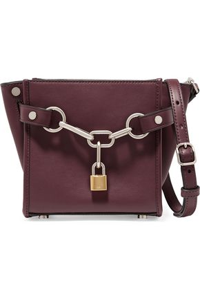 ALEXANDER WANG Attica Mini chain-trimmed leather shoulder bag