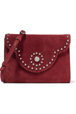 SANDRO Aniss studded suede shoulder bag