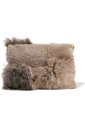 IRIS AND INK Carla shearling clutch